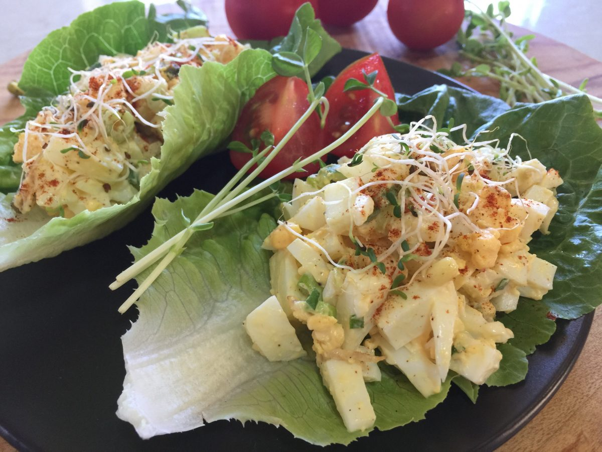 Egg and Lettuce Salad by cooking meals for one