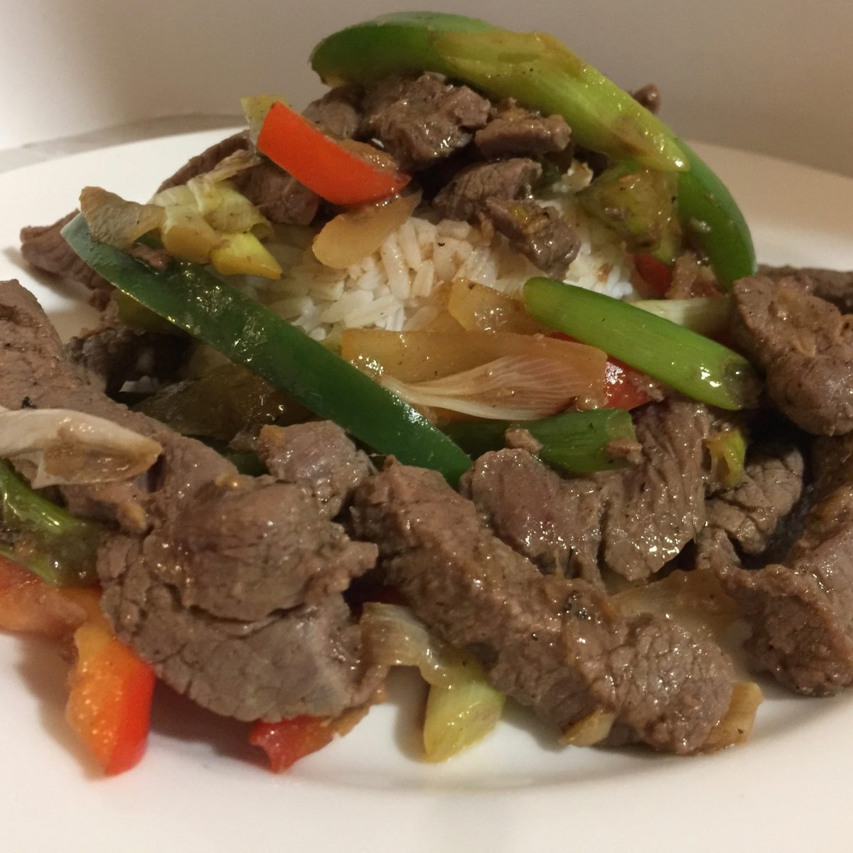 Mongolian Lamb Stir-Fry by cooking meals for one