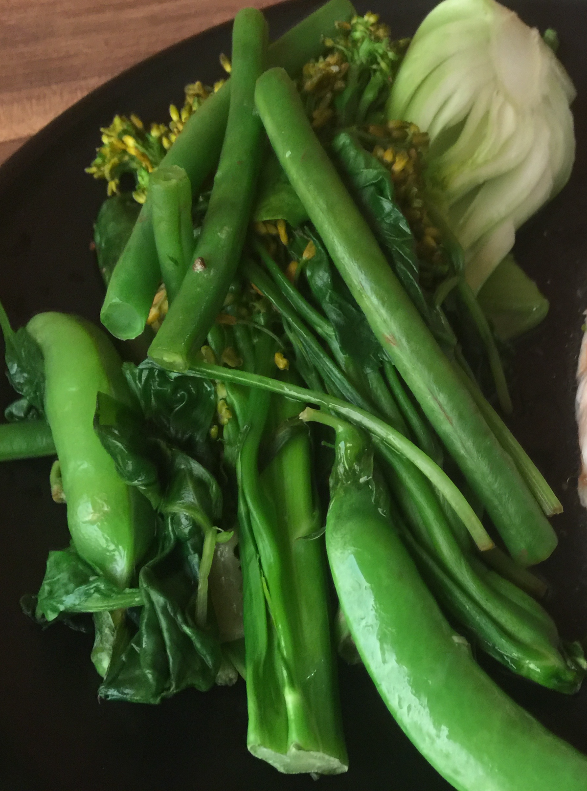 Steamed Greens by cooking meals for one
