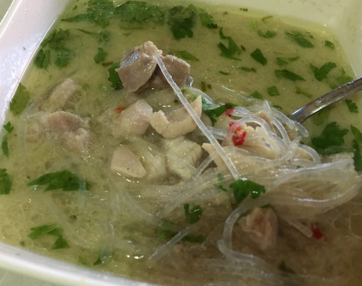 Thai Coconut Chicken Soup by cooking meals for one