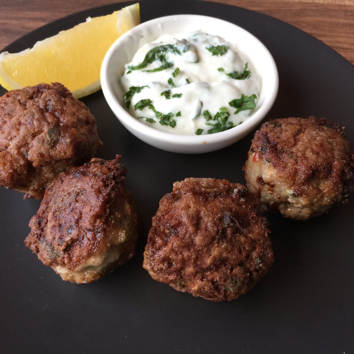 Lamb kofta balls by cooking meals for one