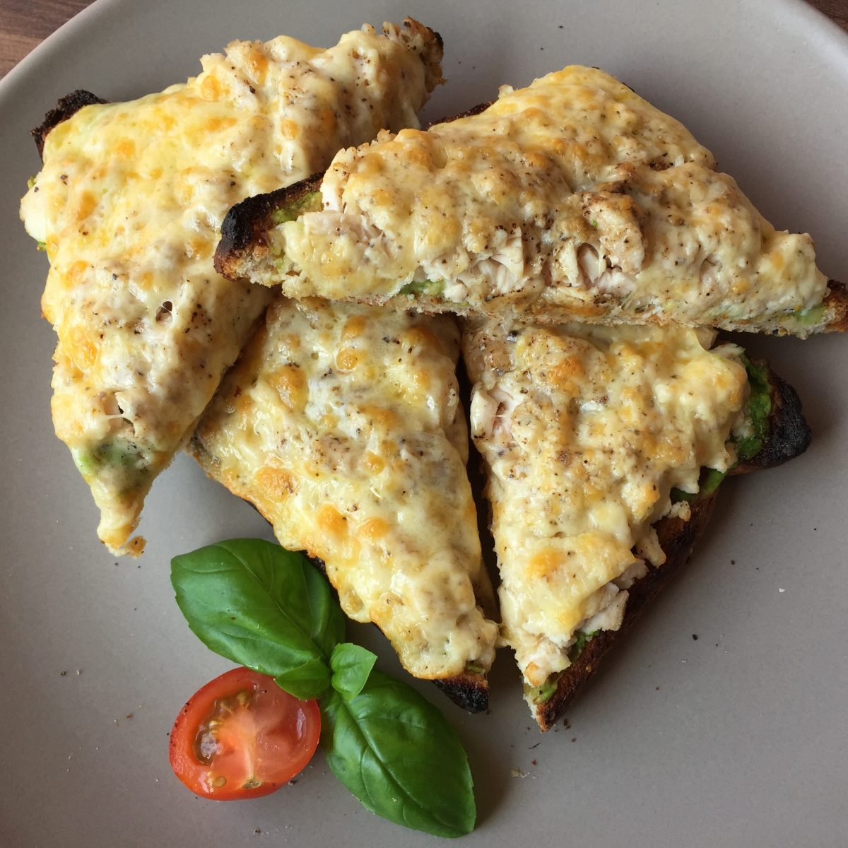 Avocado Chicken and Cheese Melt by cooking meals for one