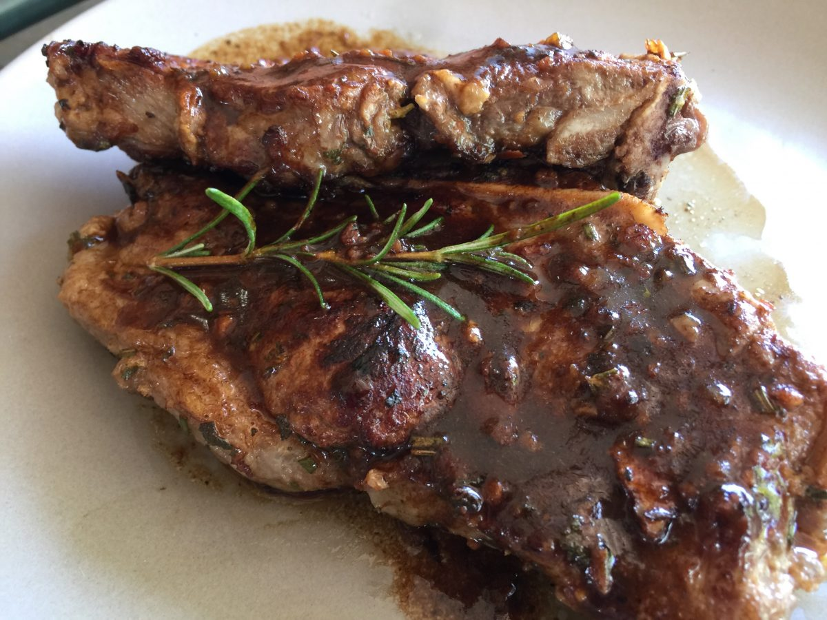Veal Chop and Rosemary by cooking meals for one