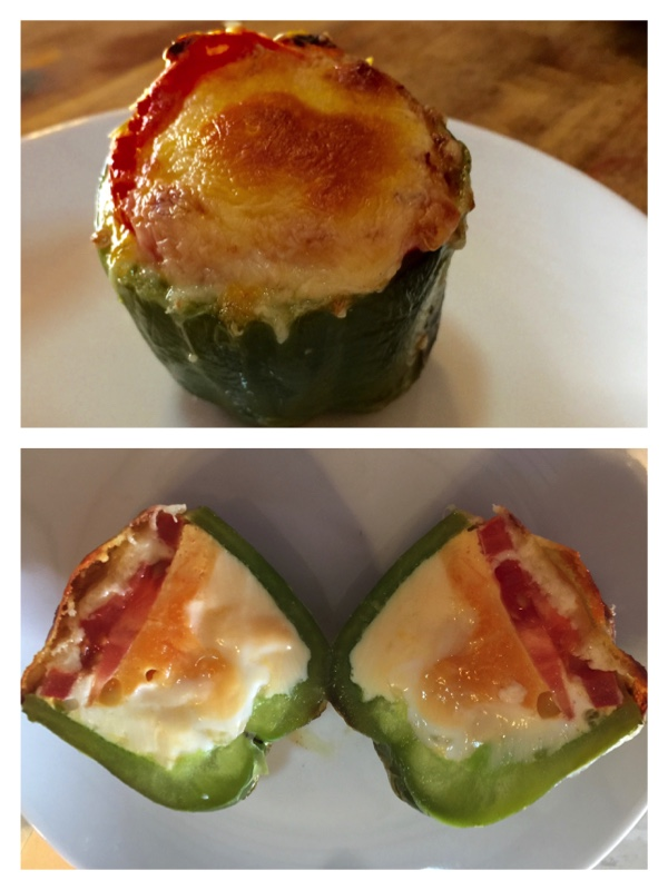 Capsicum egg cups by cooking meals for one