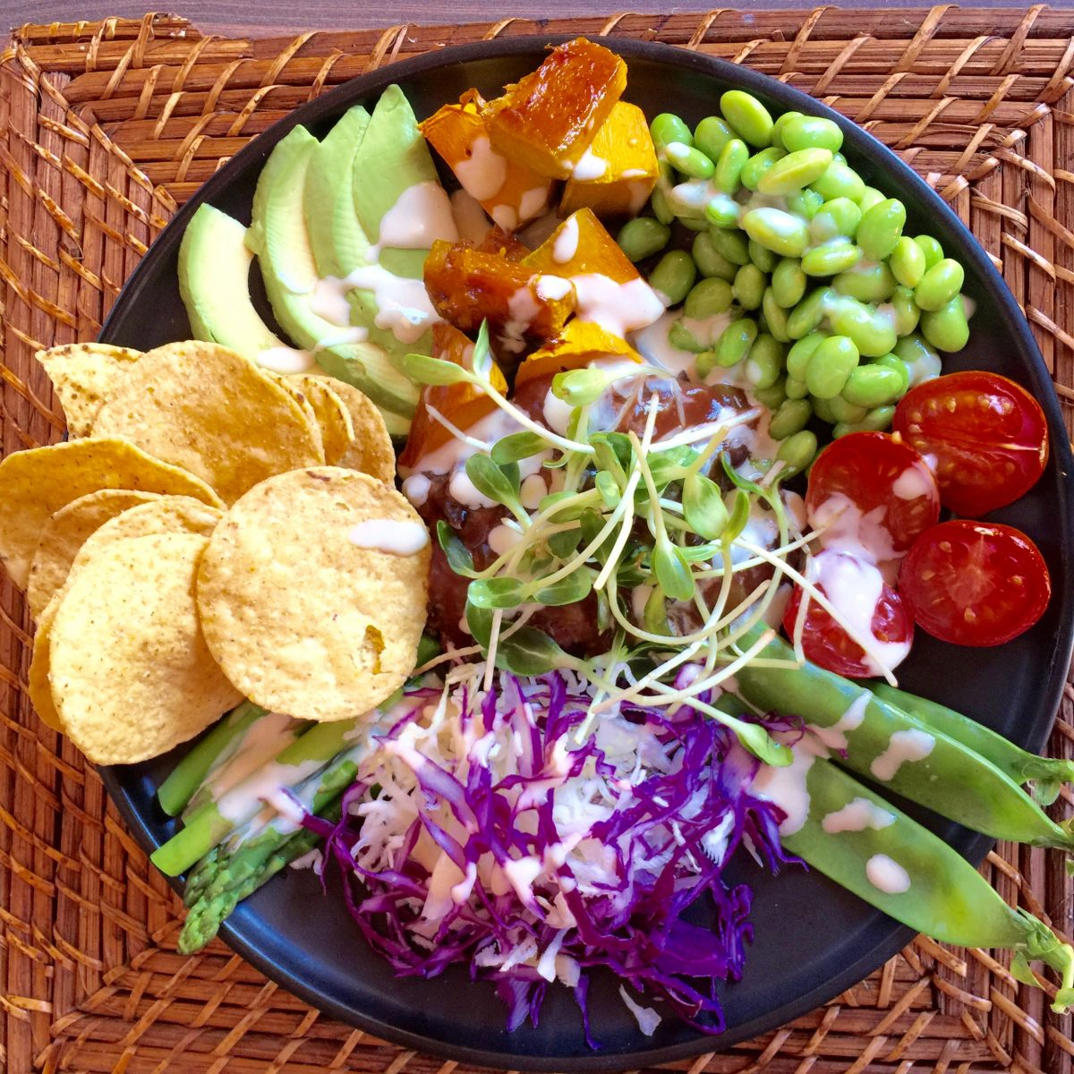 Healthy Buddha Bowl Salad by cooing meals for one