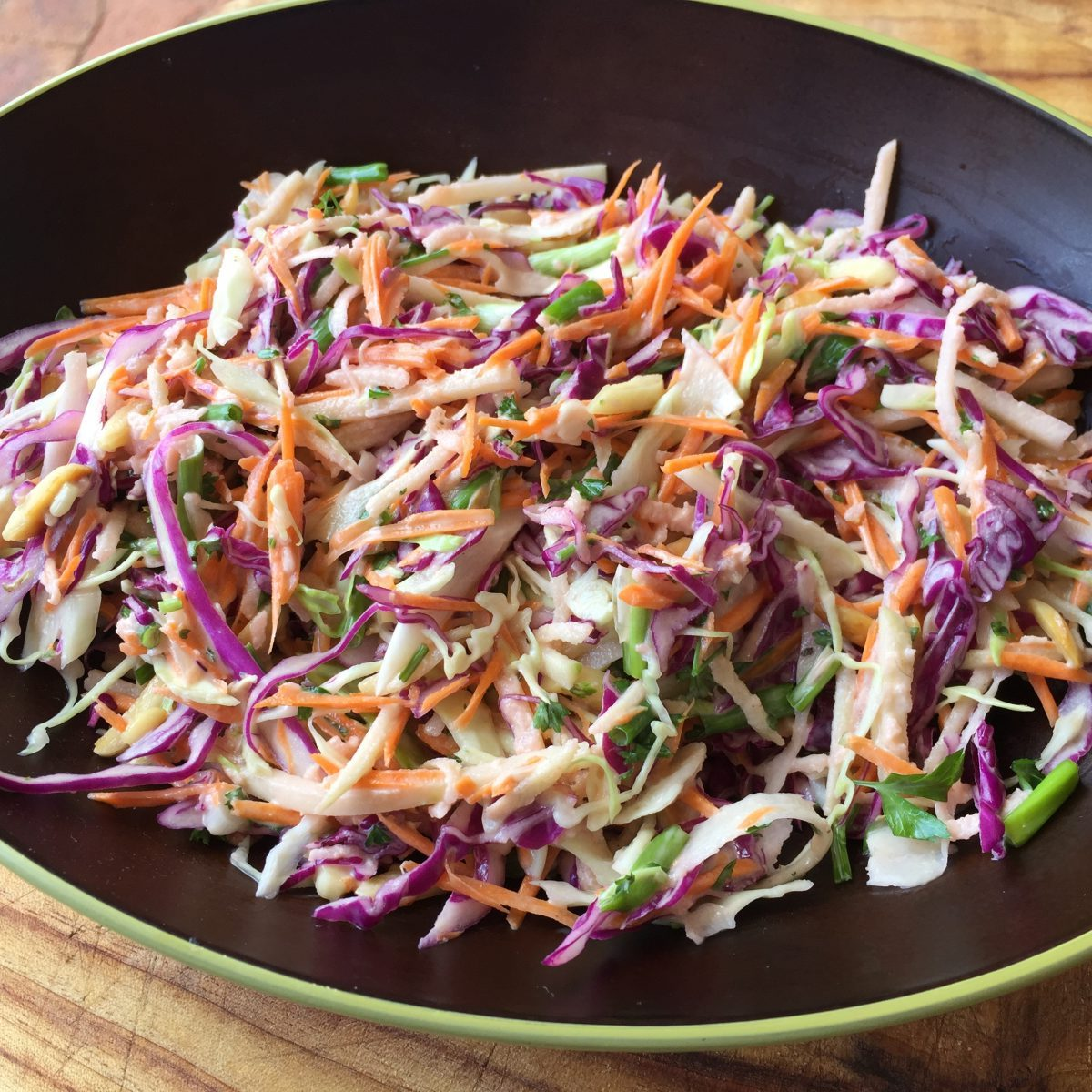 Asian slaw by cookingmealsforone.com
