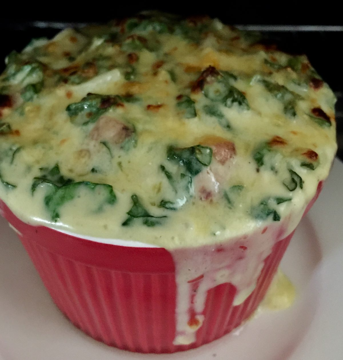 Spinach/Kale Egg Au Gratin by cookingmealsforone.com