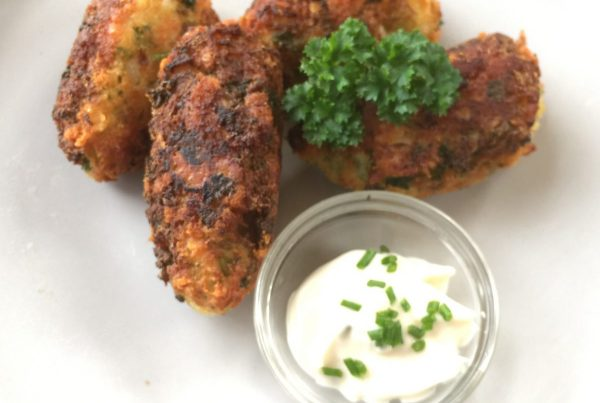 Crispy Golden Broccoli Croquettes Served with Ailoi or greek yoghurt great as a side or as is they are Quick Easy Tasty